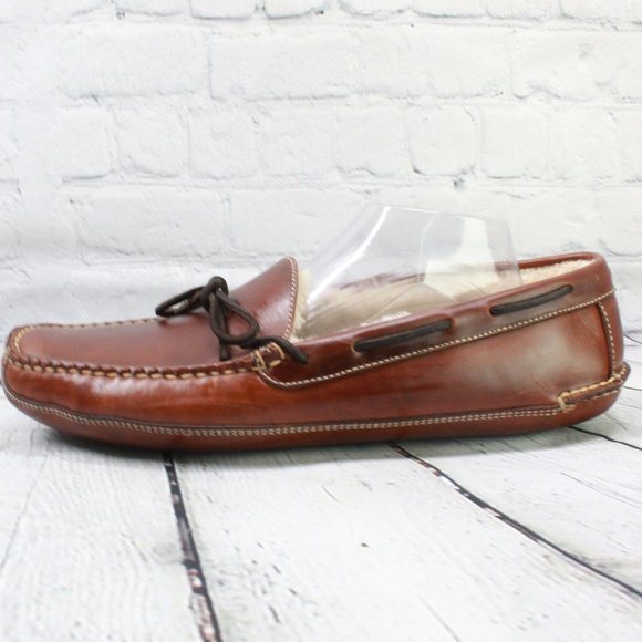LL BEAN Double-Sole Shearling-Lined Sz 10 Inch